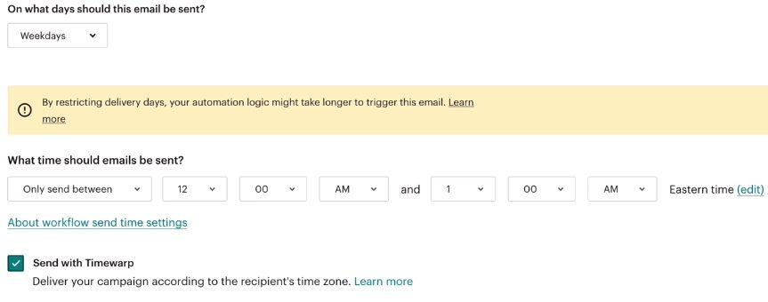MailChimp TimeWarp Delivery