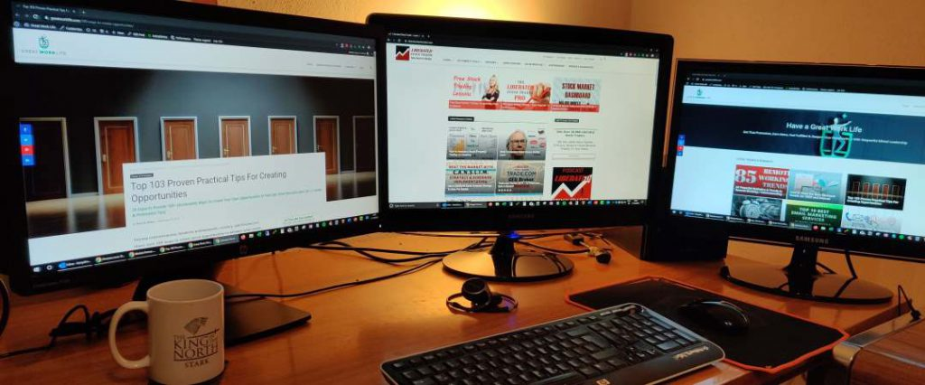 Working From Home - Multiple Monitors Rock & Improve Productivity
