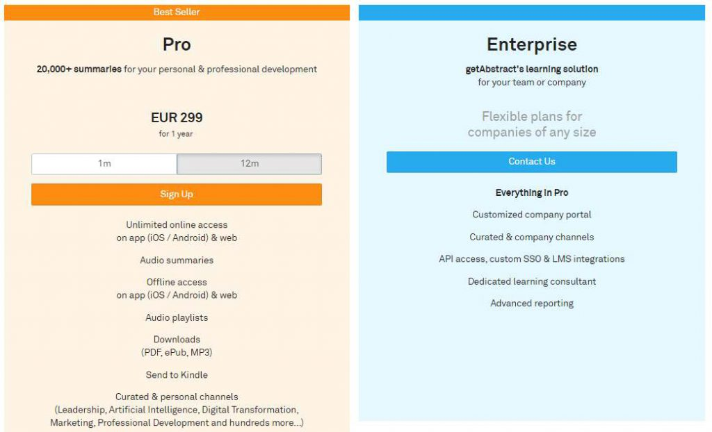 GetAbstract Review - Pricing & Services That Target the Enterprise