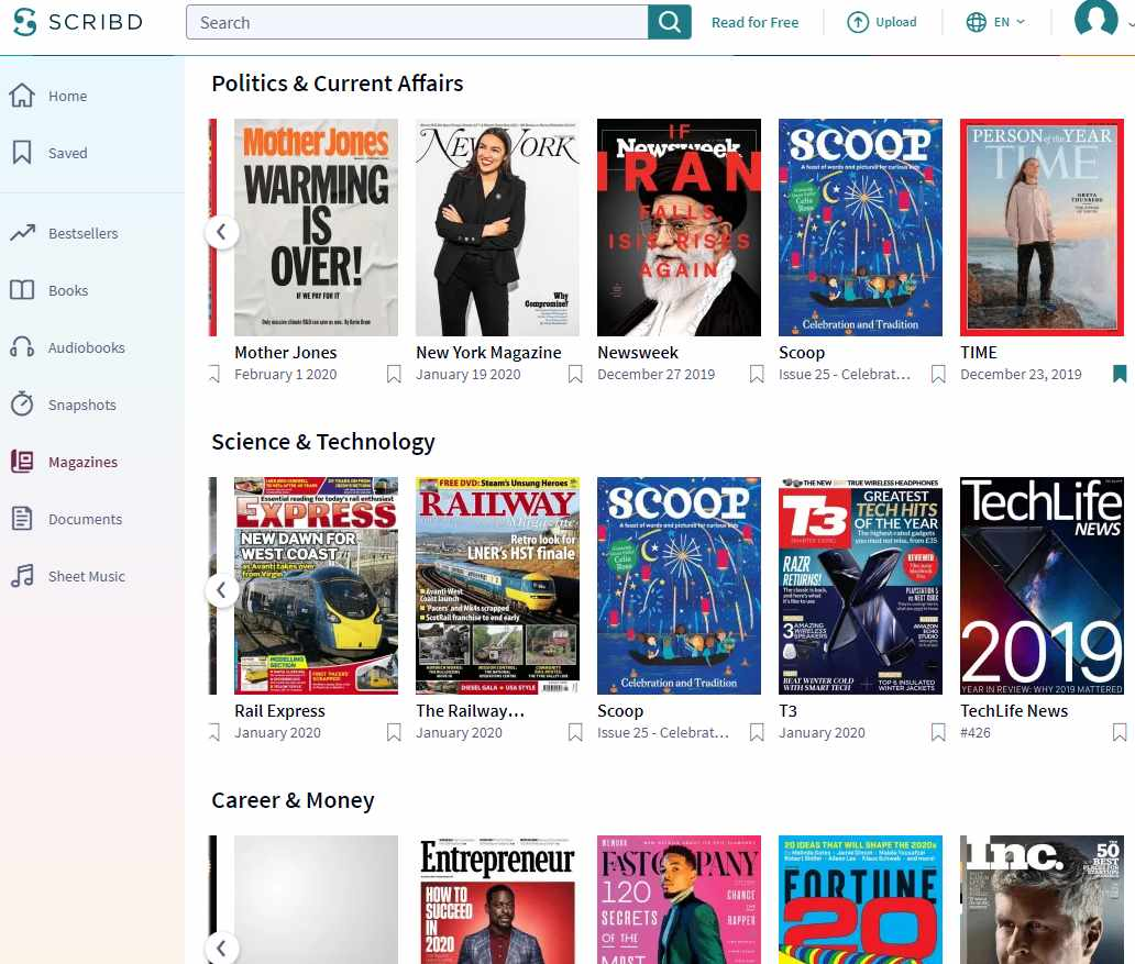 Scribd Magazines - A Good Selection
