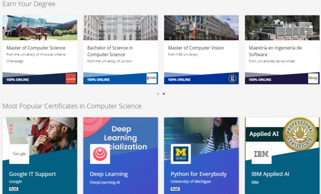 Coursera, A Serious Online Learning Platform for Certifications