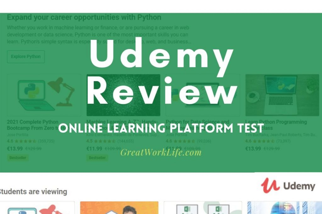 Udemy Online Learning Review & Test
